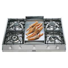 Ilve Hp965 Gas hob cm. 90 countertop configurable - stainless steel Professional Plus