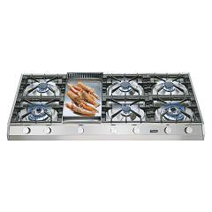 Ilve Hp1265 Gas hob cm. 120 free standing - stainless steel Professional Plus