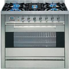 Ilve P-90f-mp Kitchen from accosto cm. 90 - inox 4 fires + fry top + 1 electric oven Professional Hi Tech Tradition