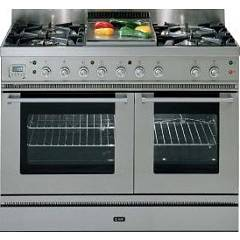 Ilve Pd-906l-mp Kitchen from accosto cm. 90 - inox 6 fires + 1 electric oven Professional Hi Tech Laser Line