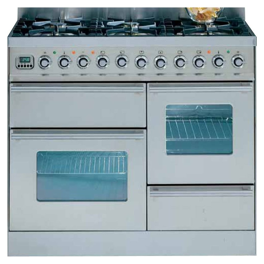 fab7209fc80 Ilve PT-100 Professional Plus Hi Tech Kitchen from accosto cm. 100 1 electric  oven + fry top + 4 fires