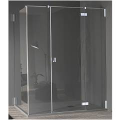 Inda Azure Morsetti Corner shower enclosure h 200 - 1 hinged door + 1 fixed side Oscar
