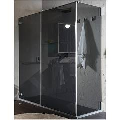 Inda Azure Profili Corner shower enclosure h 200 - 1 hinged door + 1 fixed side Oscar