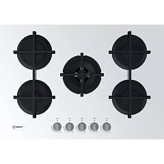 Indesit Ing 72t/wh Gas hob cm. 73 - white glass