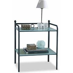 sale Ingenia Casa Canova Bedside Steel Flat Glass