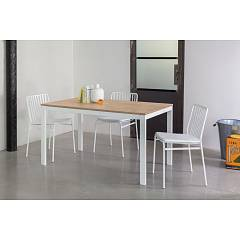 Ingenia Casa Eos Extendable table with lacquered steel structure and melamine top laminate | unicolor | crystal | ceramic