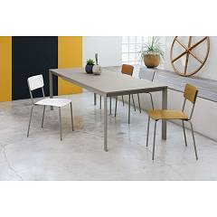 Ingenia Casa Paris Extendable table with lacquered steel structure and melamine top laminate | unicolor | crystal | ceramic | marble