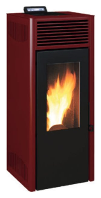 invicta nola 10 7241025205i pellet stove hot air ventilated 10 kw red vieffetrade. Black Bedroom Furniture Sets. Home Design Ideas