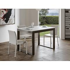 Itamoby Tecno Evolution 120 Allungabile A 380 Extendable table l. 120 x 90 - anthracite metal structure with wood effect top