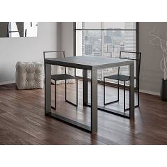 Itamoby Tecno Libra Opening table l. 90 x 90 - anthracite metal structure with wood effect top