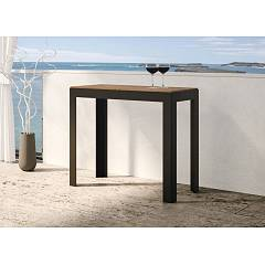 Itamoby Azalea Extendable console 90x77x40 cm - anthracite metal structure with wooden top