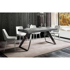 Itamoby Proxy Fix 160 Fixed table l. 160 x 90 - anthracite metal structure with wood effect top