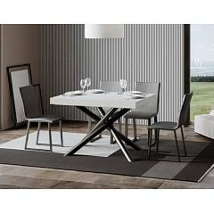 Itamoby Famas Fix 130 Fixed table l. 130 x 90 - anthracite metal structure with wood effect top