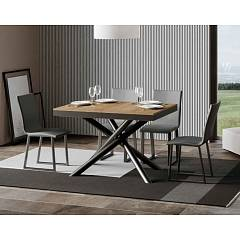 Itamoby Famas Evolution 120 Allungabile A 224 Extendable table l. 120 x 90 - anthracite metal structure with wood effect top