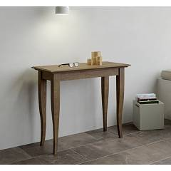 Itamoby Verona Small Console extensible 92x77x45 cm effet noyer