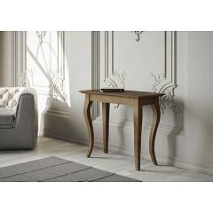 Itamoby Bassano Small Console extensible 92x77x45 cm effet noyer antique
