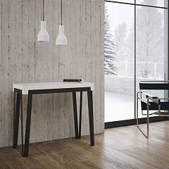 Itamoby Rio Small Extendable console 90x77x40 cm - metal structure with wooden effect top