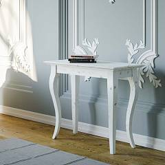Itamoby Bassano Small Shabby Chic Console extensible 92x77x45 cm effet blanc