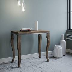 Itamoby Olanda Libra Opening console - metal frame with legs and wooden effect top