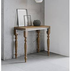 Itamoby Romagna Libra Opening console - metal frame with legs and wooden effect top