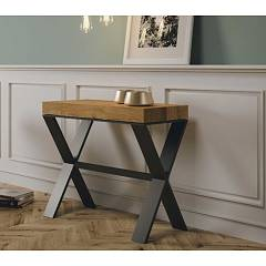 Itamoby Xenia Premium Extendable console 90x77x40 cm - anthracite metal structure with wood effect top