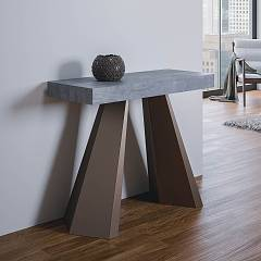 Itamoby Diamante Small Extendable console 90x77x40 cm - metal structure with wooden effect top