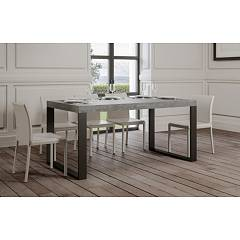Itamoby Tecno Fix 160 Fixed table l. 160 x 90 - anthracite metal structure with wood effect top