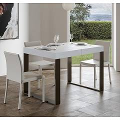 Itamoby Tecno 130 Allungabile A 234 Extendable table l. 130 x 90 - anthracite metal structure with wood effect top