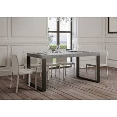 Itamoby Tecno 160 Allungabile A 420 Extendable table l. 160 x 90 - anthracite metal structure with wood effect top