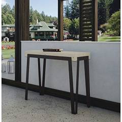 Itamoby Dalia Small Extendable console 90x77x40 cm - anthracite metal structure with wooden top