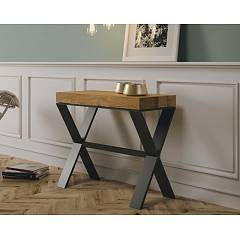 Itamoby Xenia Small Premium Extendable console 90x77x40 cm - anthracite metal structure with wood effect top