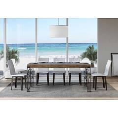 Itamoby Ghibli 180 Allungabile A 284 Extendable table l. 180 x 90 - anthracite metal structure with wood effect top