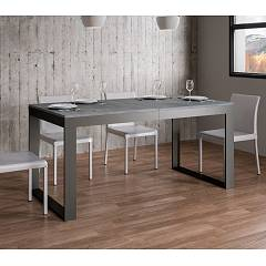 Itamoby Tecno Evolution 160 Allungabile A 420 Extendable table l. 160 x 90 - anthracite metal structure with wood effect top