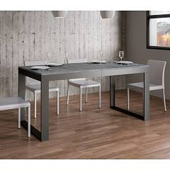 Itamoby Tecno Evolution 180 Allungabile A 284 Extendable table l. 180 x 90 - anthracite metal structure with wood effect top