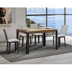 Itamoby Linea 130 Allungabile A 234 Extendable table l. 130 x 90 - anthracite metal structure with wood effect top