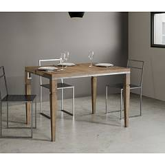 Itamoby Impero Libra Opening table l. 90 x 120 - metal frame with legs and wood effect top