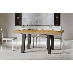 Itamoby Bridge 180 Allungabile A 440 Extendable table l. 180 x 90 - anthracite metal structure with wood effect top