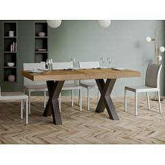 Itamoby Traffic 180 Allungabile A 440 Extendable table l. 180 x 90 - anthracite metal structure with wood effect top