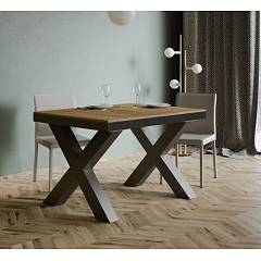 Itamoby Traffic Evolution 120 Allungabile A 380 Extendable table l. 120 x 90 - anthracite metal structure with wood effect top