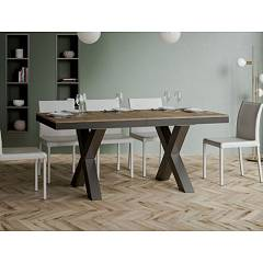 Itamoby Traffic Evolution 180 Allungabile A 440 Extendable table l. 180 x 90 - anthracite metal structure with wood effect top