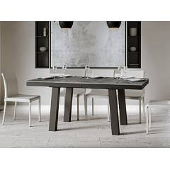 Itamoby Bridge Evolution 160 Allungabile A 264 Extendable table l. 160 x 90 - anthracite metal structure with wood effect top