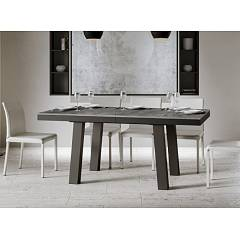 Itamoby Bridge Evolution 160 Allungabile A 420 Extendable table l. 160 x 90 - anthracite metal structure with wood effect top