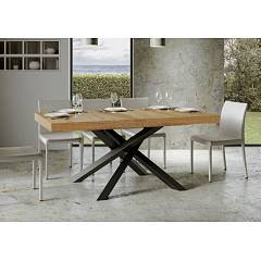Itamoby Volantis Fix 180 Fixed table l. 180 x 90 - anthracite metal structure with wood effect top