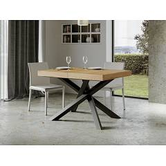 Itamoby Volantis 130 Allungabile A 390 Extendable table l. 130 x 90 - anthracite metal structure with wood effect top