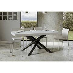 Itamoby Volantis 160 Allungabile A 420 Extendable table l. 160 x 90 - anthracite metal structure with wood effect top