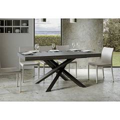 Itamoby Volantis 180 Allungabile A 440 Extendable table l. 180 x 90 - anthracite metal structure with wood effect top