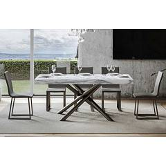Itamoby Famas 160 Allungabile A 264 Extendable table l. 160 x 90 - anthracite metal structure with wood effect top
