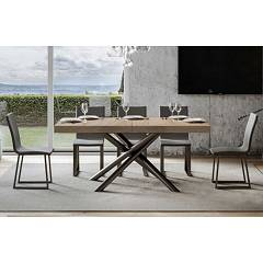 Itamoby Famas 180 Allungabile A 284 Extendable table l. 180 x 90 - anthracite metal structure with wood effect top
