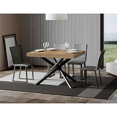 Itamoby Famas 130 Allungabile A 390 Extendable table l. 130 x 90 - anthracite metal structure with wood effect top