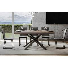 Itamoby Famas 160 Allungabile A 420 Extendable table l. 160 x 90 - anthracite metal structure with wood effect top